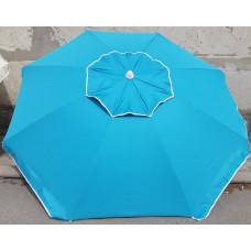 Бирюзовый пляжный зонт 2 м плотный брезент ветровой клапан