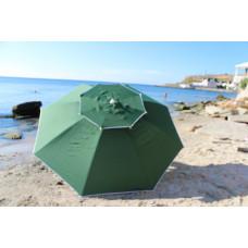 Ветровой зонт для кафе пляжа дачи 2,5 м 8 спиц Зеленый