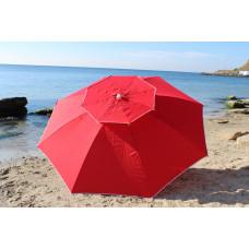 Дачный зонт большой 3 м ветроустойчив красный