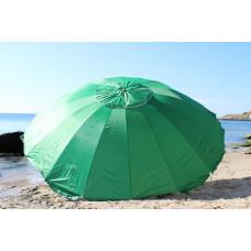 Дачный большой зонт 3,5 м много спиц 16 зеленый