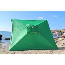 Дачный зонт квадратный на пляж или ранок 2*3м зеленый