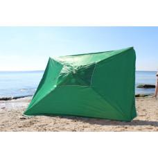 Зонт большой квадратный на дачу 3*3м зеленый