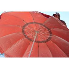 Большой торговый зонт 3 м с 16 спиц на базар красный