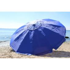 Большой пляжный зонт 3,5 м плотные спицы 12 синий