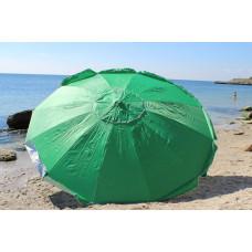 Зонт для уличной торговли 3 м 16 спиц клапан зеленый